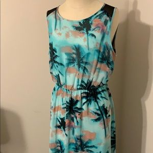 Palm tree maxi with sheer back